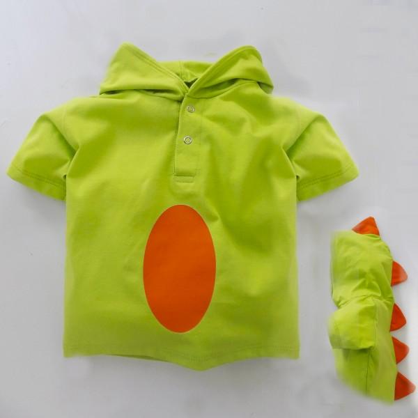 Camiseta Fantasia Dinossauro | 1 até 6 anos