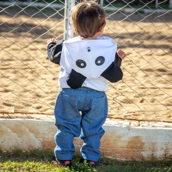 Agasalho Moletom Panda | M até 6 anos