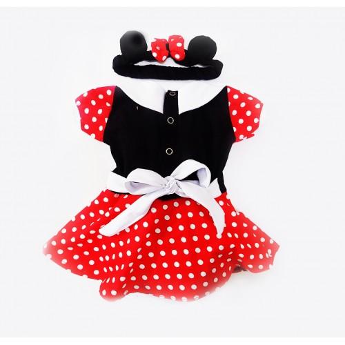 Vestido Fantasia Mouse   P até 4 anos