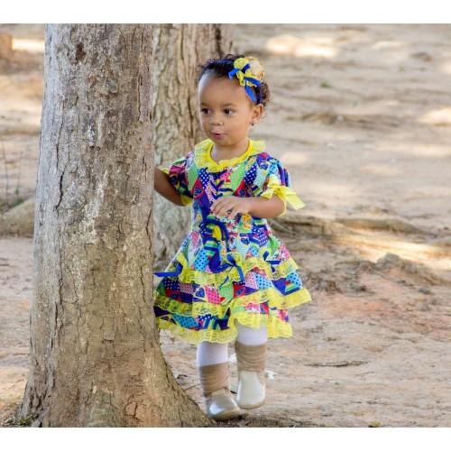 Vestido Junino Caipira   P até 4 anos