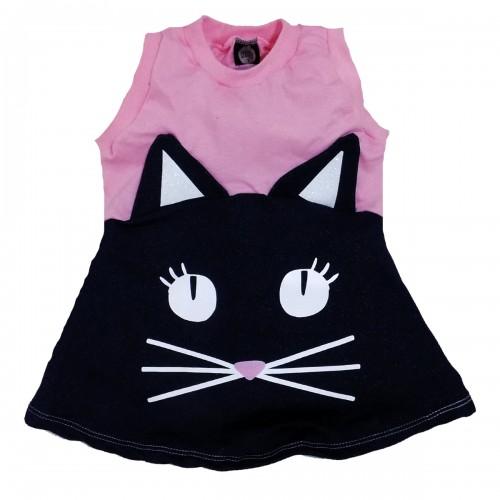 Vestido Gatinha   1 até 6 anos