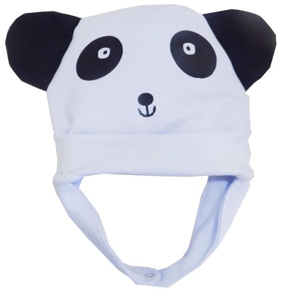 Touca Aviador de Moletom Panda