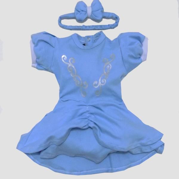 Vestido Cinderela | P  a 4 anos