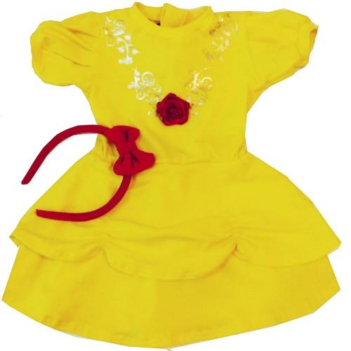 Vestido Fantasia Bela e a Fera | P até 4 anos