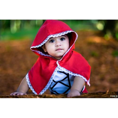 Vestido Chapeuzinho Vermelho   P até 4 anos