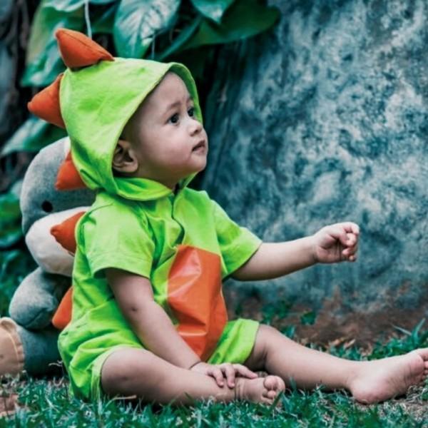 Macacão Baby Dinossauro Verde Claro